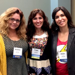 Me with my erotica writing co-panelist, the awesome Alexis Anne, and our fantastic moderator, MM Finck