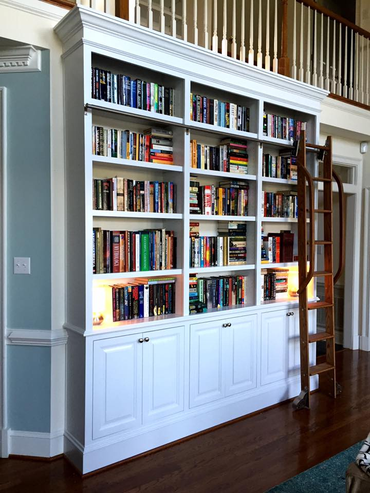 Why yes, that is a sliding library ladder. Isn't it gorgeous?
